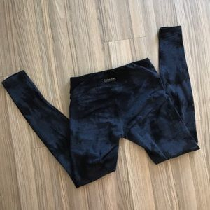 Calvin Klein blue and black tiedye workout legging